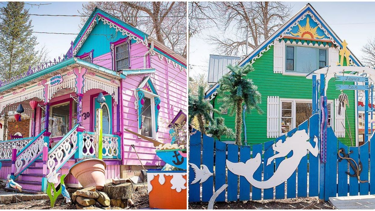 Grimsby Beach And Its Colourful Cottages Look Like Something Out Of A Dr. Seuss Book