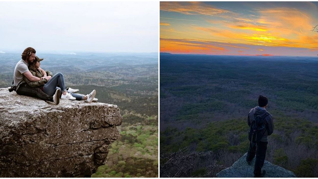 Cheaha State Park Alabama Hiking Leads To State's Highest Point