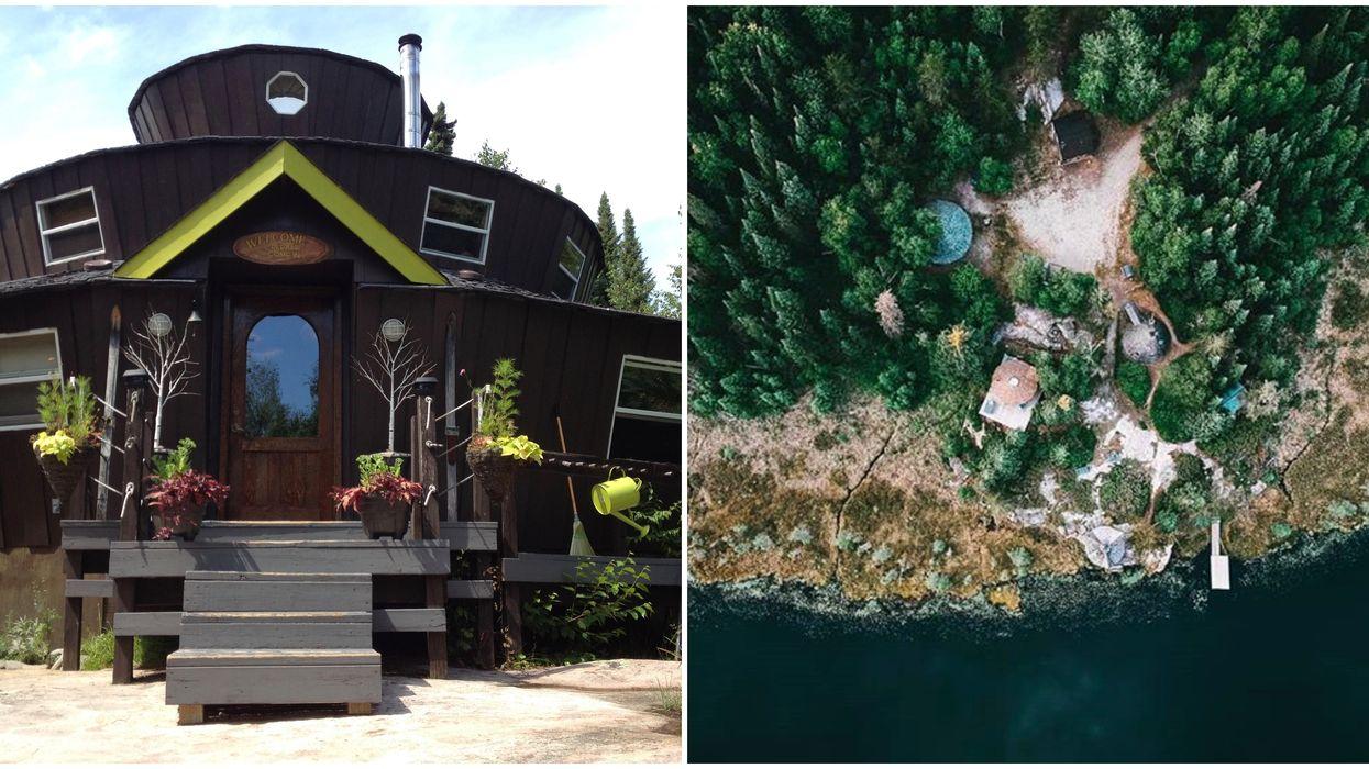Ontario's Mee-nah-kee Yurt Has 3 Floors & Whimsical Hobbit Vibes