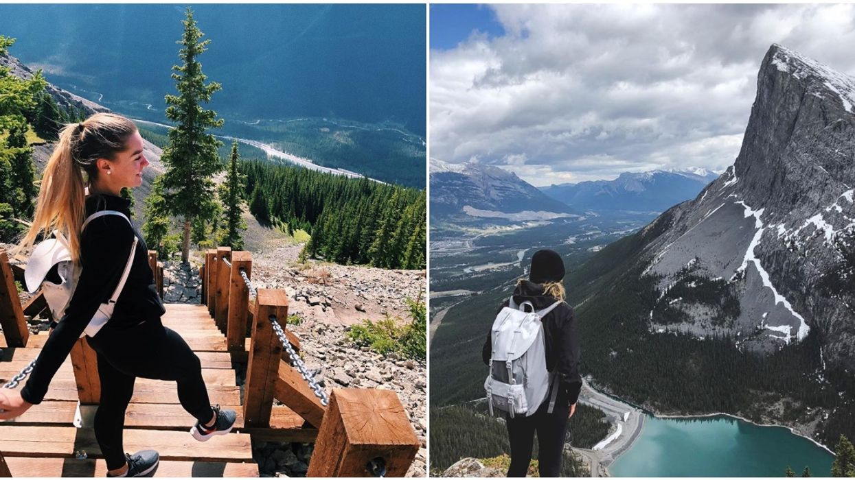 Ha Ling Peak Staircase Trail Brings You All The Way To The Summit Of A Mountain