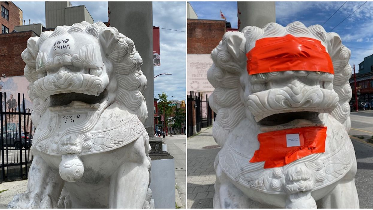 Vancouver Chinatown Lions Hit With Racist Graffiti For A Second Time