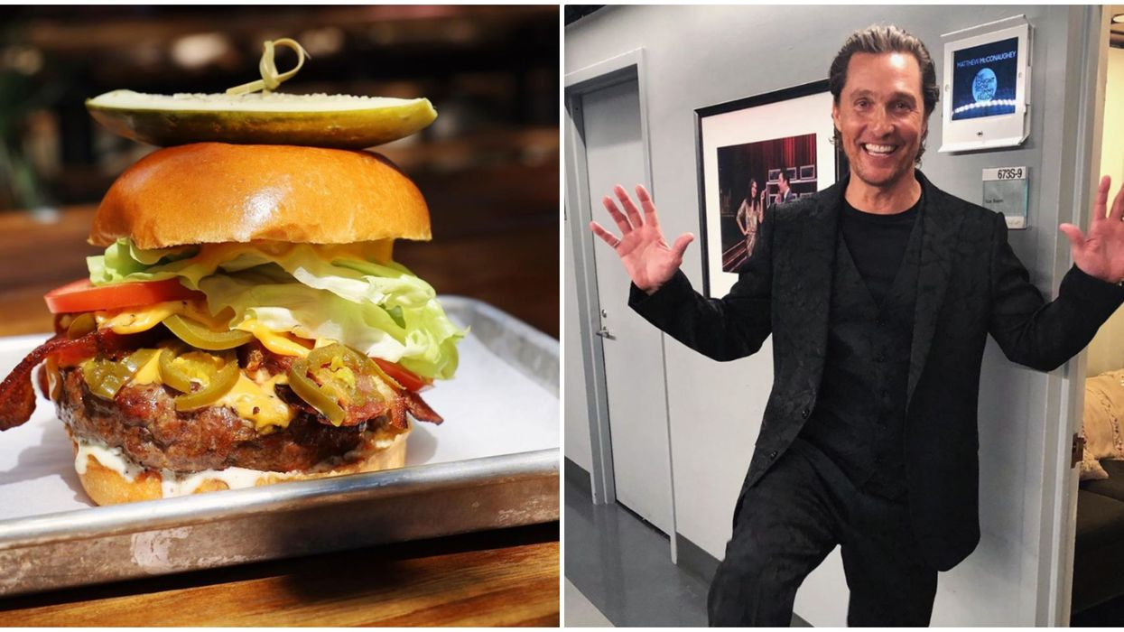 Matthew McConaughey's Burger Can Be Purchased This Weekend Only