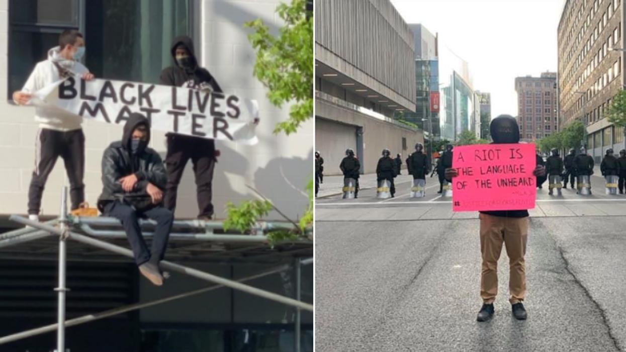La manifestation antiracisme à Montréal s'est terminée en grabuge (VIDÉOS)