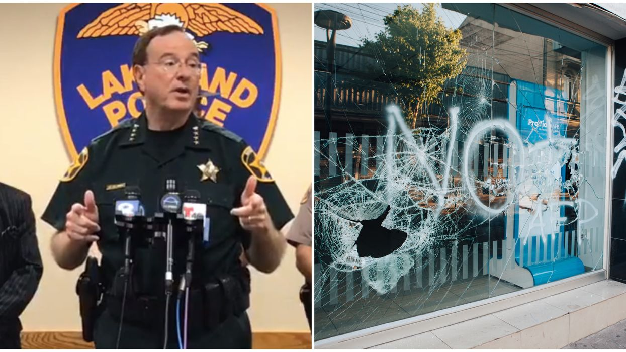 Protests In Florida Continued Last Night And The Polk County Sheriff Spoke Out