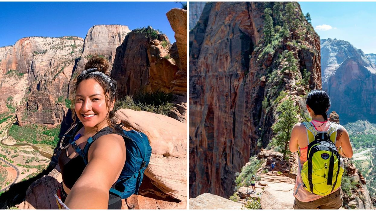 Angels Landing In Utah Is Home To A Trail That Climbs Over 1,400 Feet Toward The Sky
