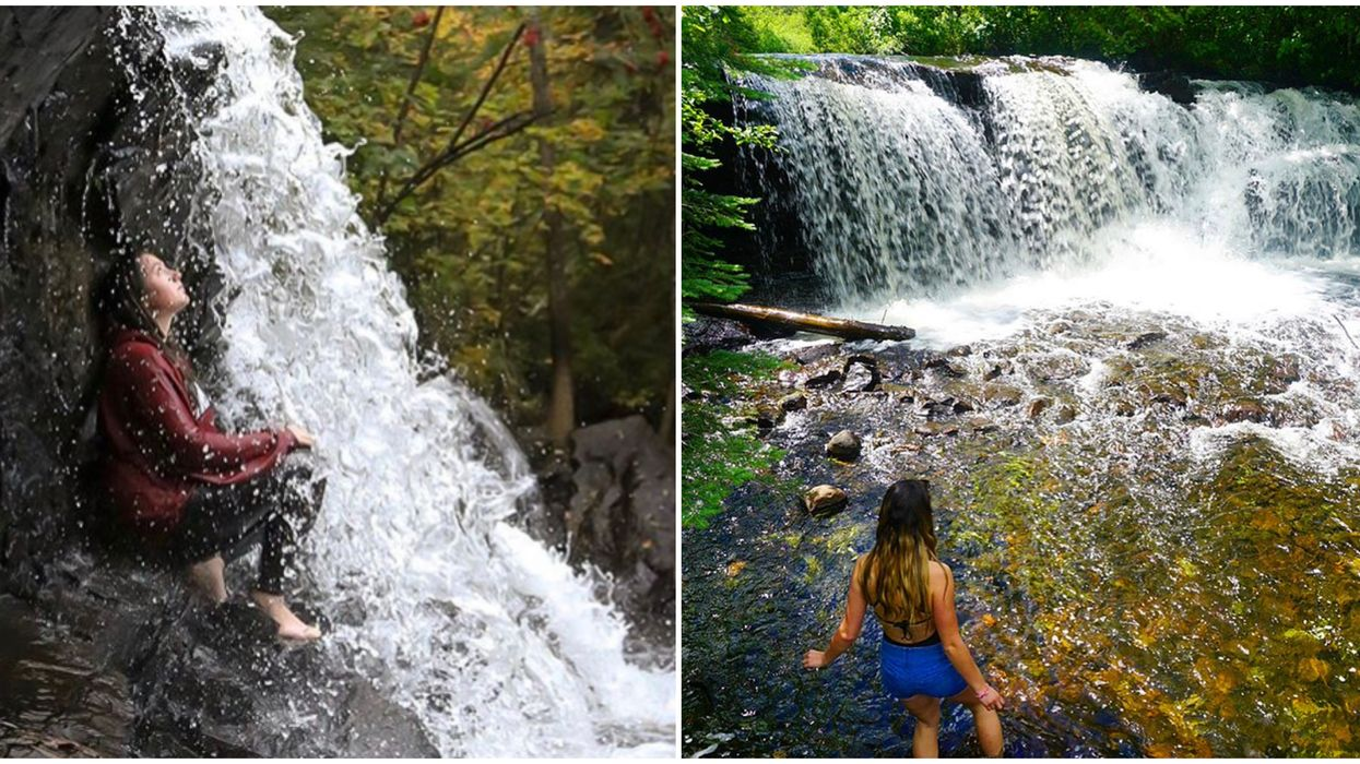 Ontario's Raleigh Falls Is Hidden In A Lush Forest With A Perfect Picnic Spot