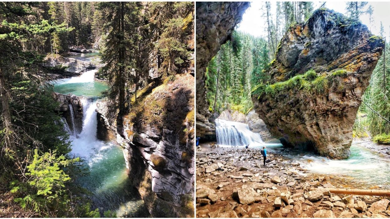 Alberta's Johnston Canyon Trail Is Just A 5-km Hike To The Most Surreal Natural Wonder