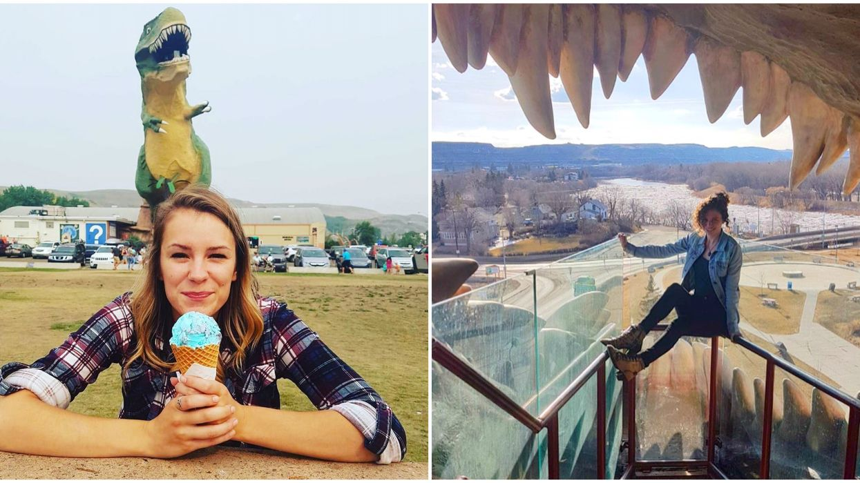 World's Largest Dinosaur Lives In Alberta & It's Getting A New Paint Job For Summer