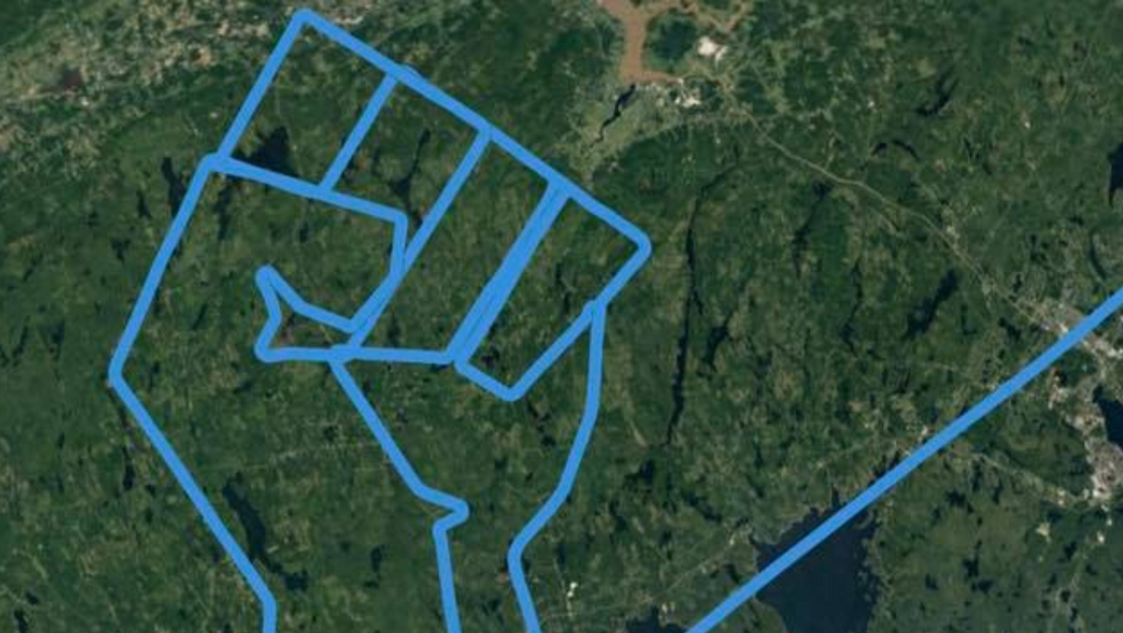 A Pilot Flew In The Shape Of A Raised Fist Over Nova Scotia For George Floyd