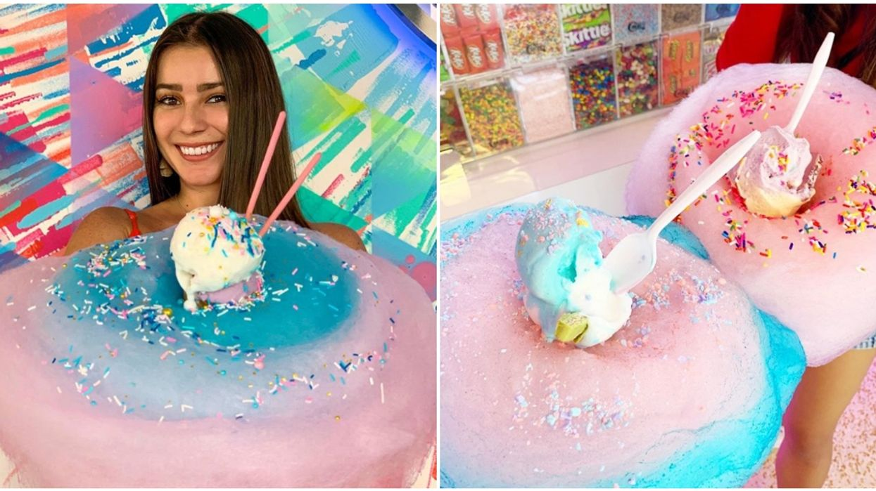 Icy-N-Spicy Miami Ice Cream Parlor Serves Cotton Candy Desserts & Is Open For Summer