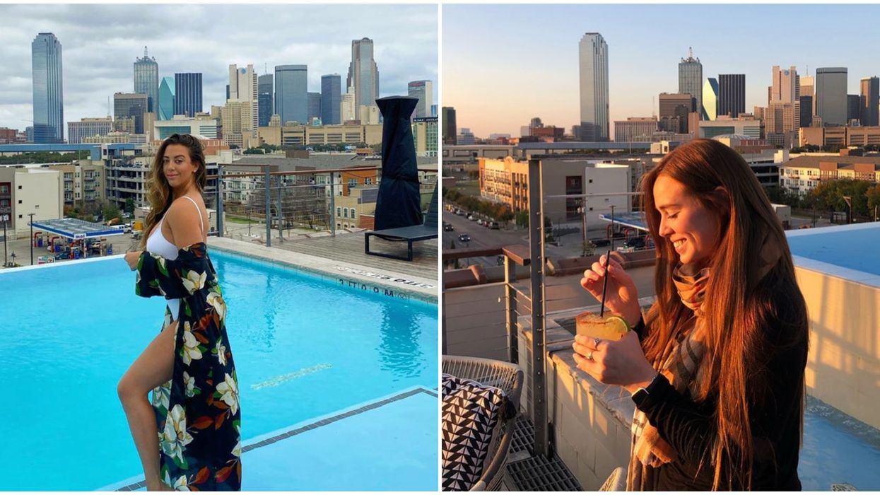Canvas Dallas' Rooftop Bar And Pool Is The Perfect Summer Activity