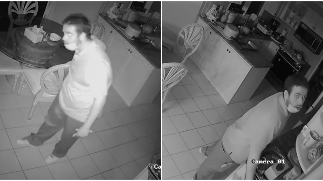 York Regional Police Video Shows Man Breaking Into A Sleeping Couple's House
