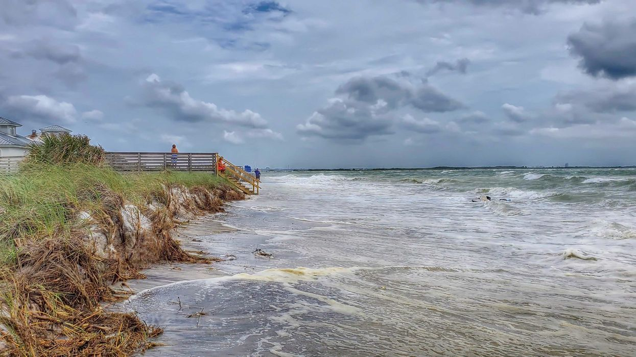 Tropical Depression Cristobal Florida Beaches Disappear Under Massive Surf