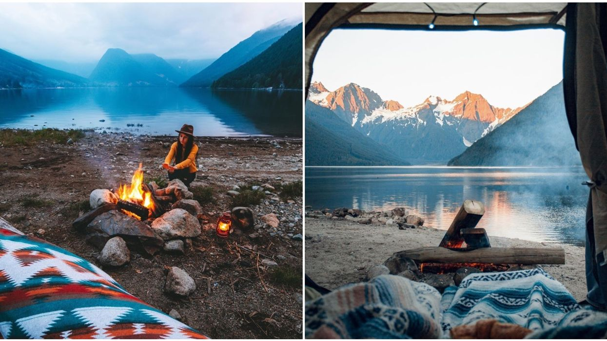 Jones Lake In BC Is The Ultimate Camping Spot & It's Right On A Sparkling Blue Lake