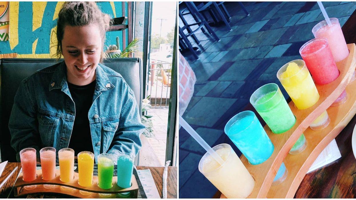 Agavos Cocina And Tequila Memphis Restaurant Has Fruity Flights Of Rainbow Margaritas