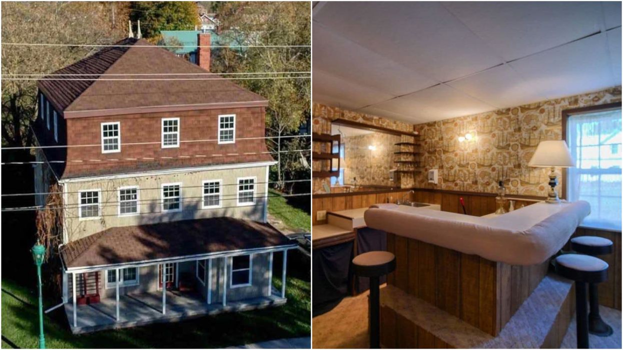 Waterside Mansion For Sale In PEI Has A Vintage Private Bar & Costs Just $165K (PHOTOS)