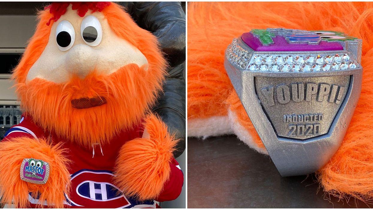 Youppi!, la mascotte des Canadiens de Montréal, est intronisée au Temple de la renommée
