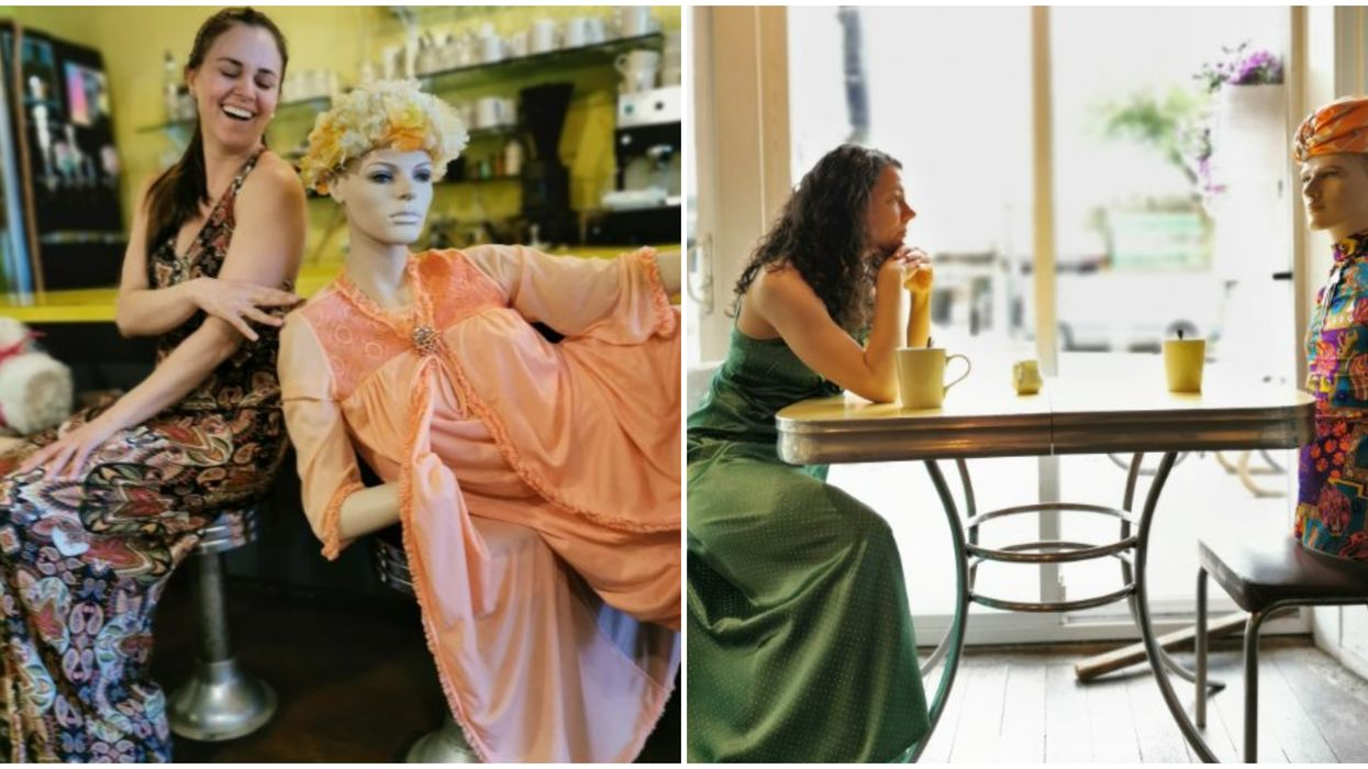 Roundel Cafe Vancouver Uses Mannequins To Make People Physically Distance (PHOTOS)