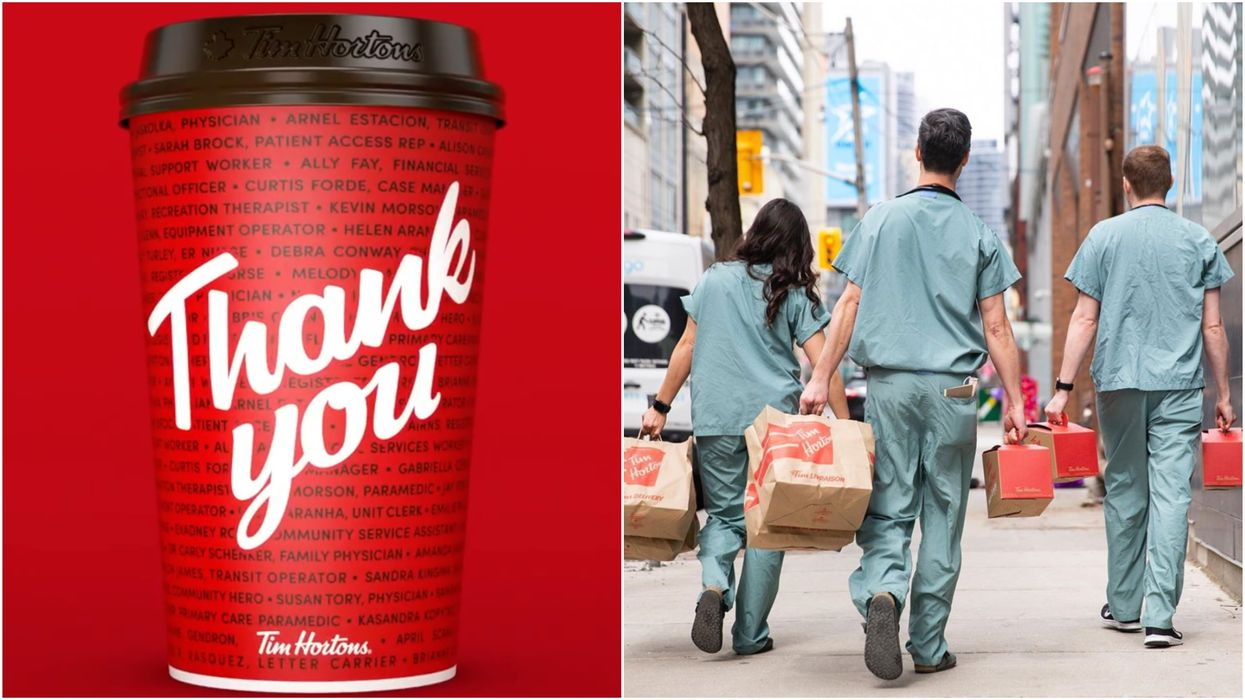 Tim Hortons Is Launching 'Hero Cups' & They Feature Essential Workers' Names