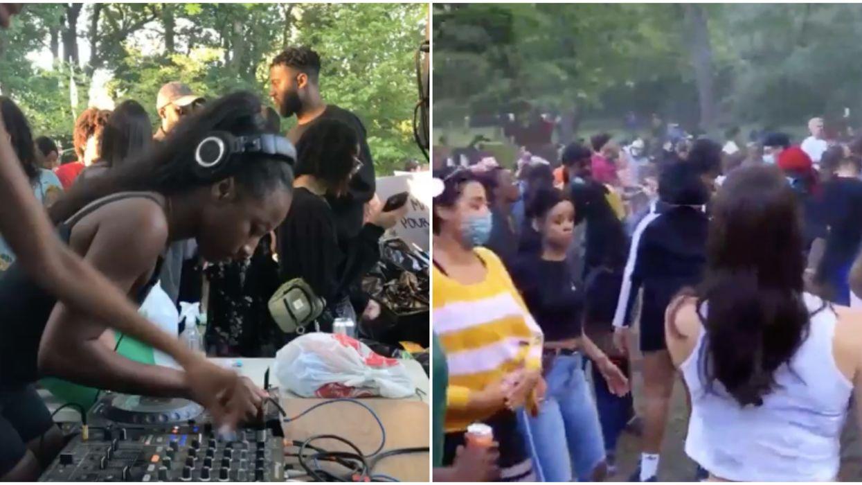 Une énorme fête cachée dans les bois s'est déroulée hier à Montréal pour le BLM (vidéos)