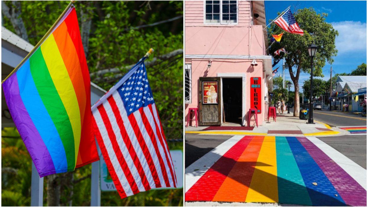 Rainbow Crosswalks In Key West Unveiled During Pride Month