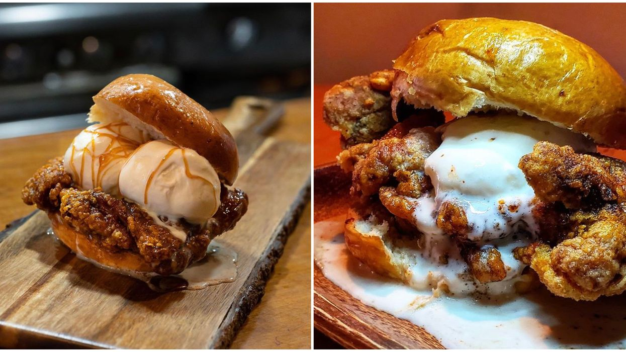 Toronto's Chicken Ice Cream Sandwich Lets You Eat Lunch & Dessert At The Same Time