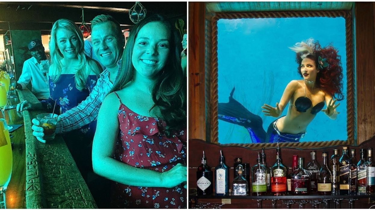 Wreck Bar In Fort Lauderdale Features Live Mermaids & Tropical Drinks