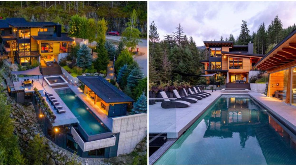 Whistler Mansion's Surreal Cliff-Edge Pool Is Made For Epic Summer Parties