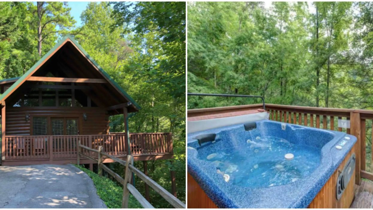 Affordable Cabin Airbnb In Tennessee Has A Hot Tub And Gorgeous Forest Views