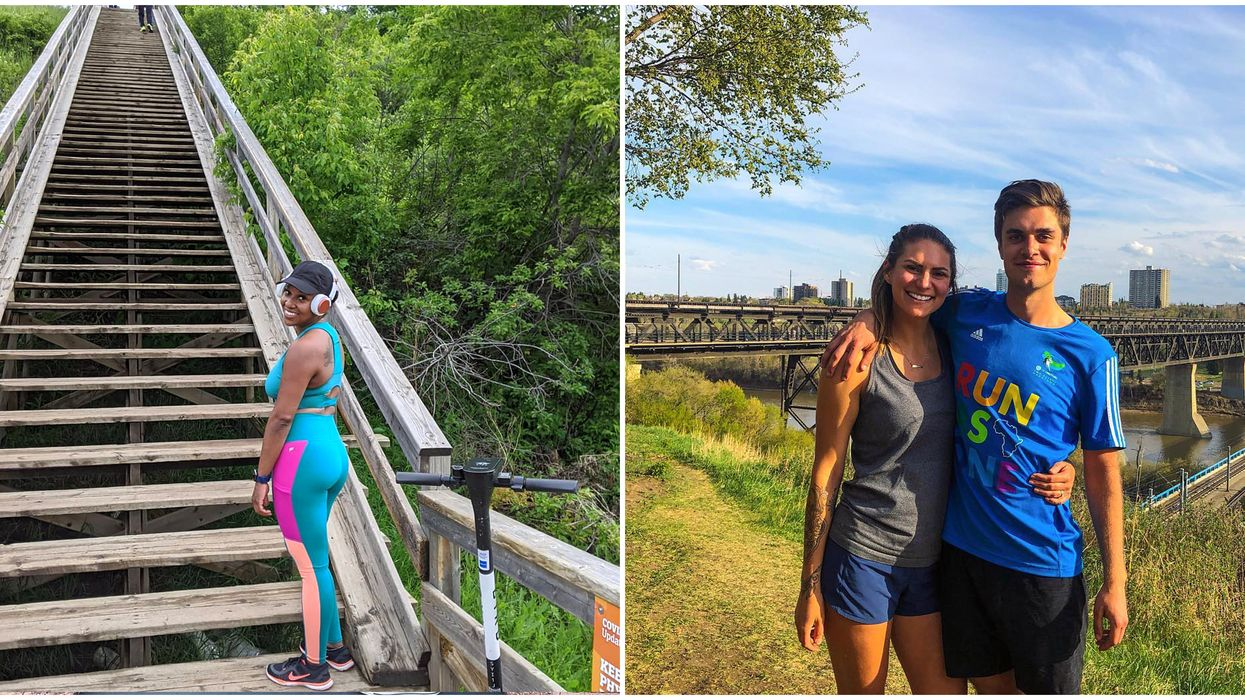 Edmonton Staircase Trail Is A Perfect Workout & Has Epic City Views