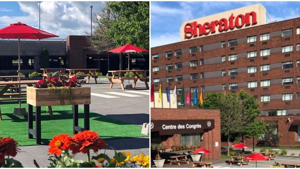 Le stationnement du Sheraton Laval se transforme en magnifique terrasse cet été (Photos)