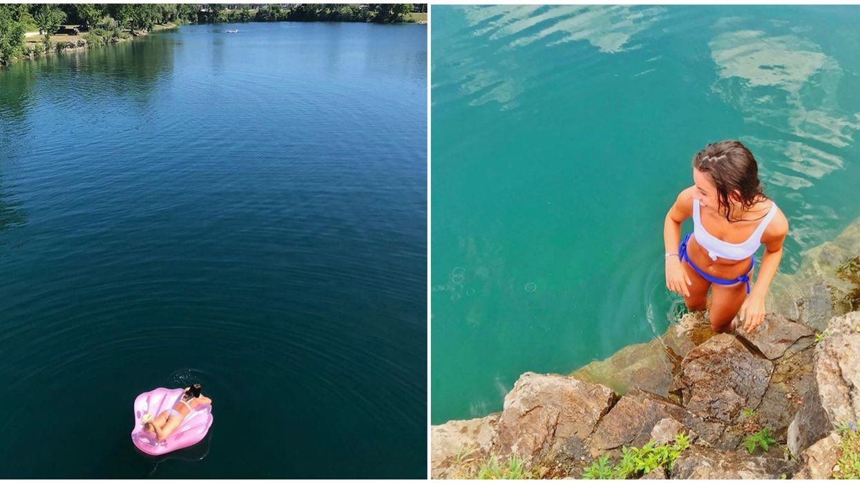 Ontario's Innerkip Quarry Has Stunning Turquoise Waters To Float Around In All Summer