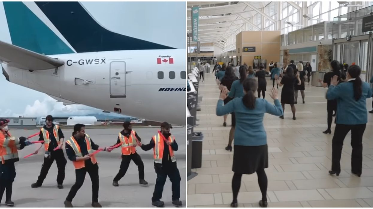 WestJet Staff Took Over A Totally Empty YVR Airport & Had An Epic Dance Party (VIDEO)