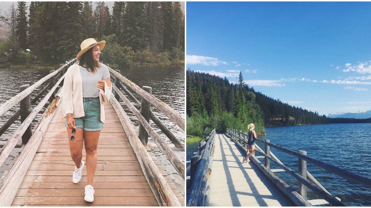 Alberta's Pyramid Island Is An Easy Summer Lake Hike Away