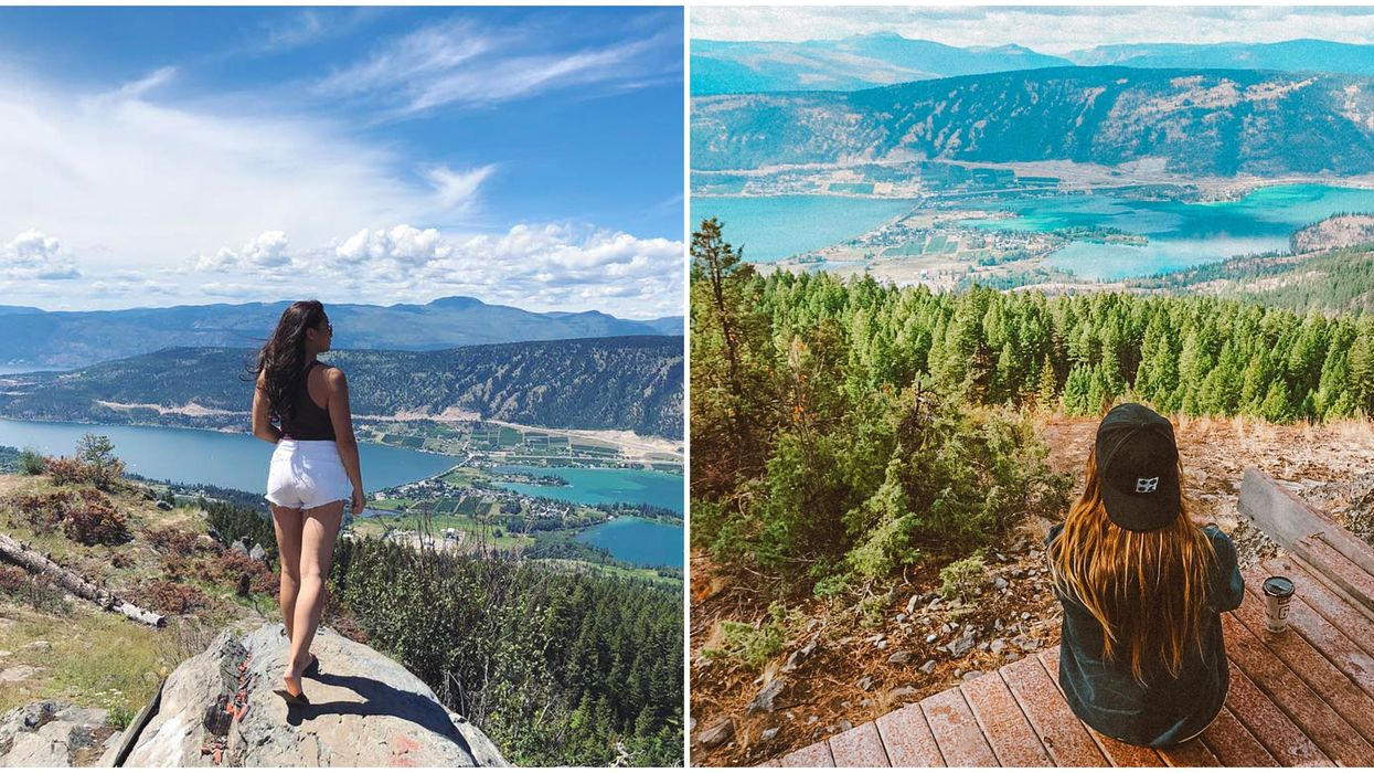BC Lookout Point Has Secret Blue Lake Views & It's An Easy Summer Road Trip Away