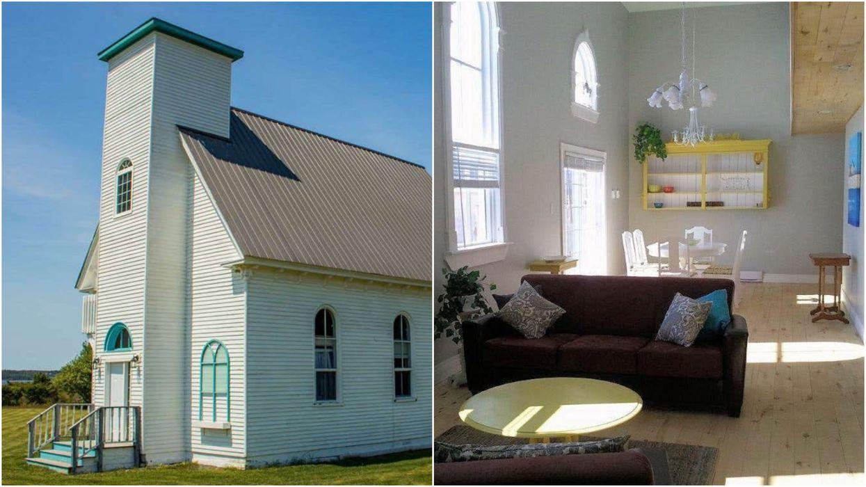 Church House For Sale In PEI Has A Backyard Boardwalk Straight To The Beach (PHOTOS)