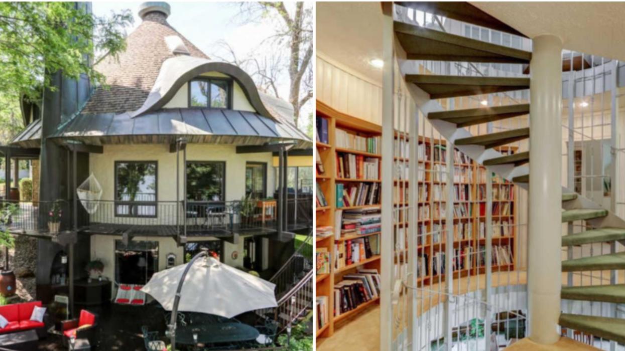 Cette maison ronde sur le bord de l'eau est en vente à moins d'une heure de Montréal