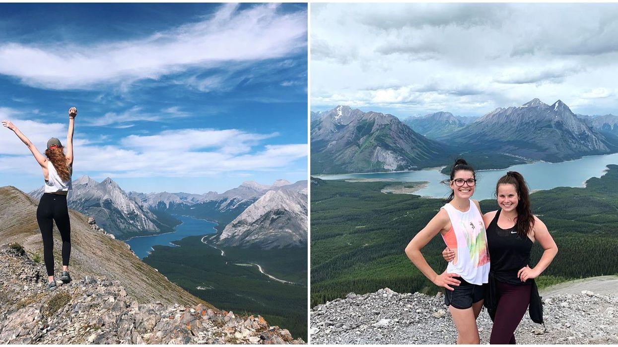 Hike In Alberta Tent Ridge Takes You To 3 Mountain Peaks & A Bright Blue Lake