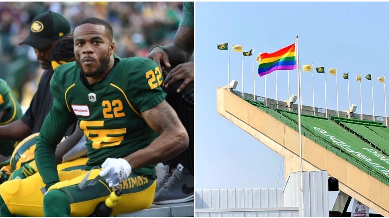 """Edmonton CFL Player Was """"Released"""" For Writing Homophobic Tweet During Pride Month"""