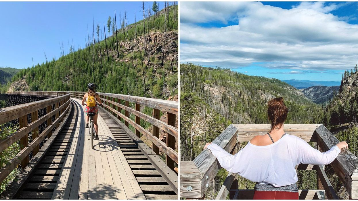 Myra Canyon Trestles In Kelowna Have A 12-km Hike That Takes You Through Tunnels