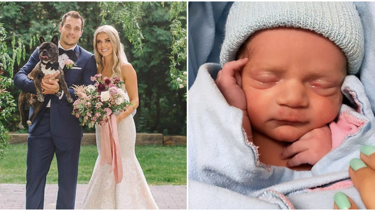 Bo Horvat's Baby Was Just Born & They Already Sound Like A Hockey Player (PHOTOS)