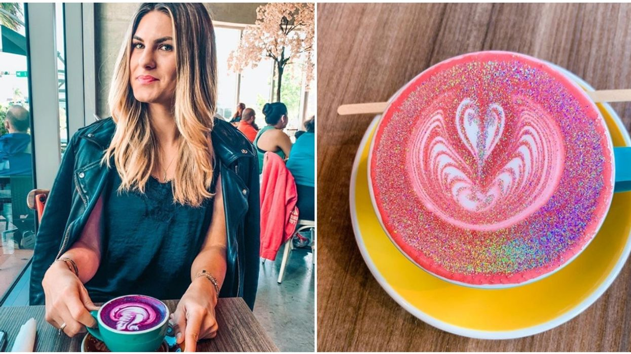 Bistro Cafe In Miami Has A Magical Glitter Latte With All The Unicorn Vibes
