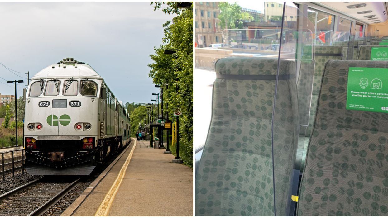 GO Train Seats Will No Have Plastic Barriers Between Them This Summer