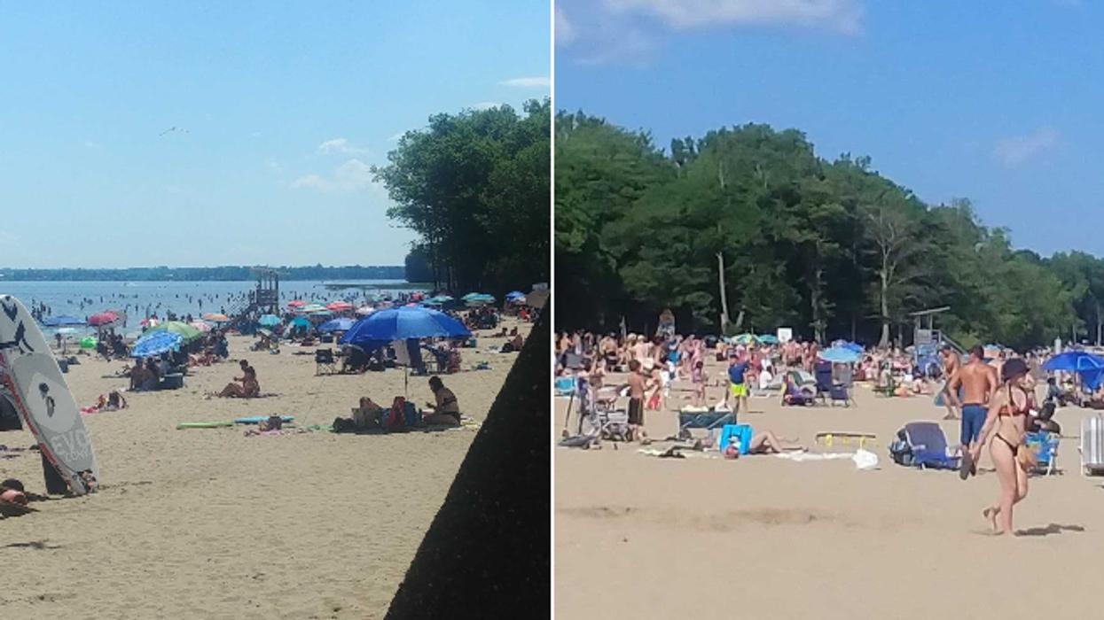 La plage d'Oka était pleine à craquer pour la Fête du Canada malgré les restrictions (PHOTOS)