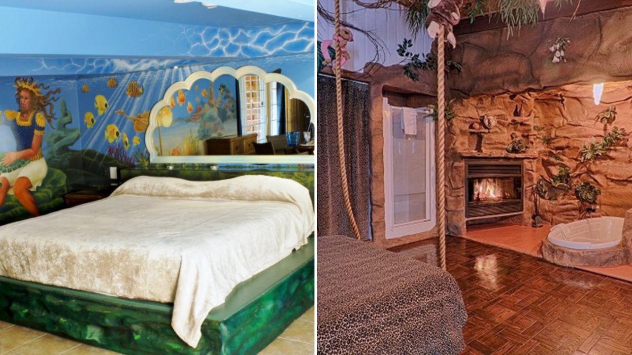 Cet hôtel a des chambres à thème parfaitement quétaines idéales pour une nuit en amoureux