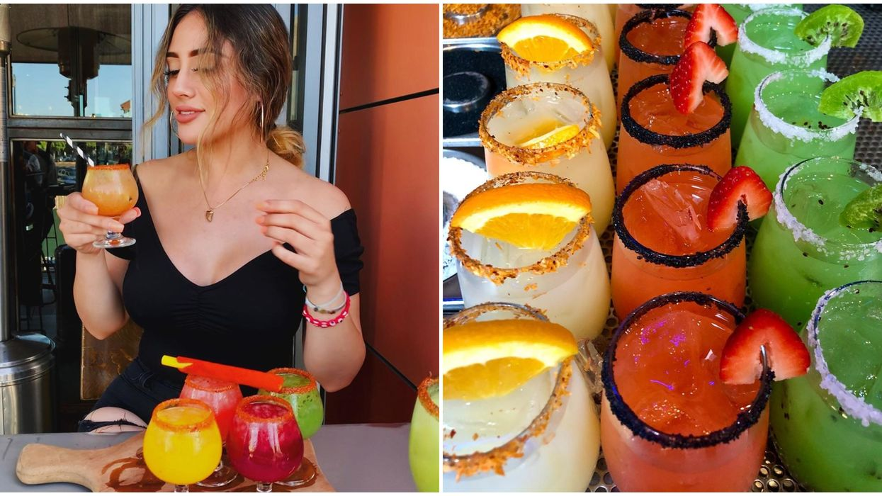 6 Margarita Flights In California That Are Seriously Colorful & Tasty