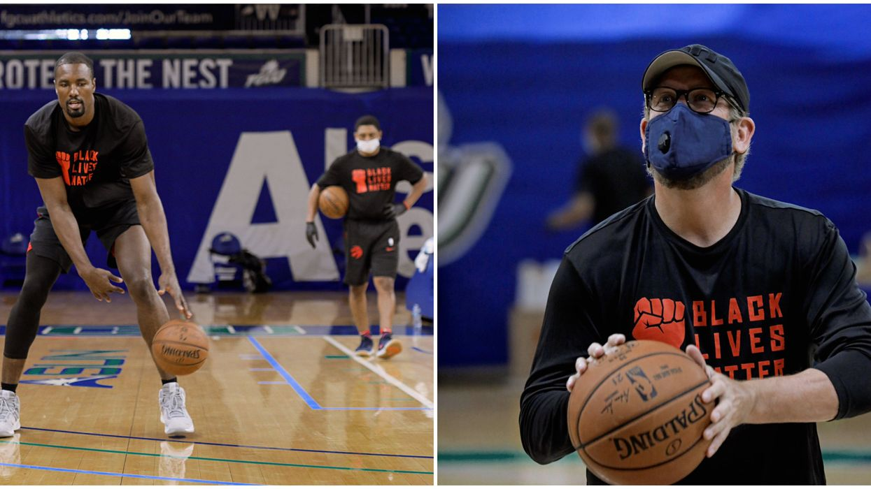 Toronto Raptors Are Back On The Court With Face Masks & BLM Shirts On