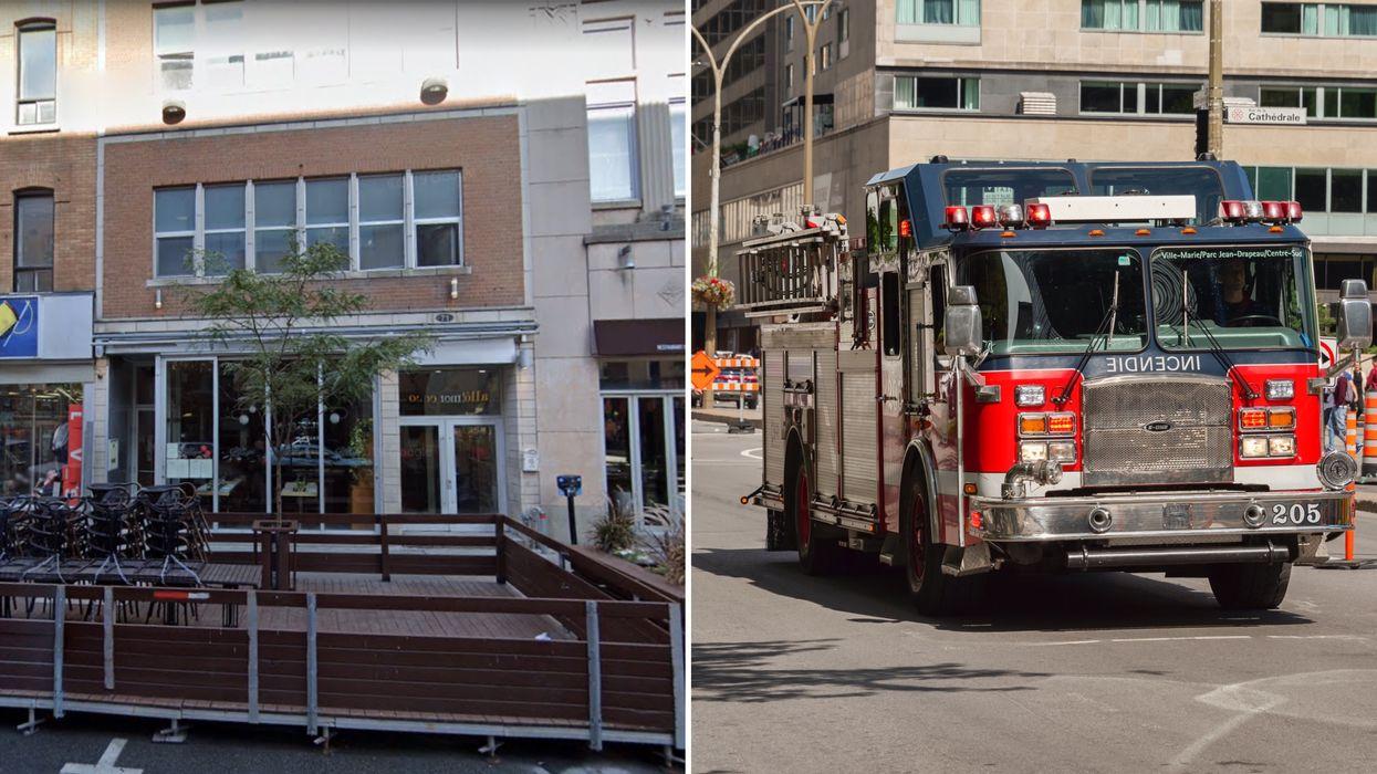 Incendie criminel à Montréal : Un homme sauvé des flammes par les policiers