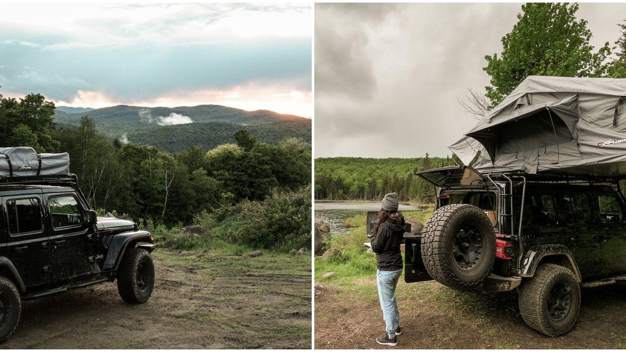 Un Jeep tout-équipé à louer cet été pour une expérience de camping inoubliable