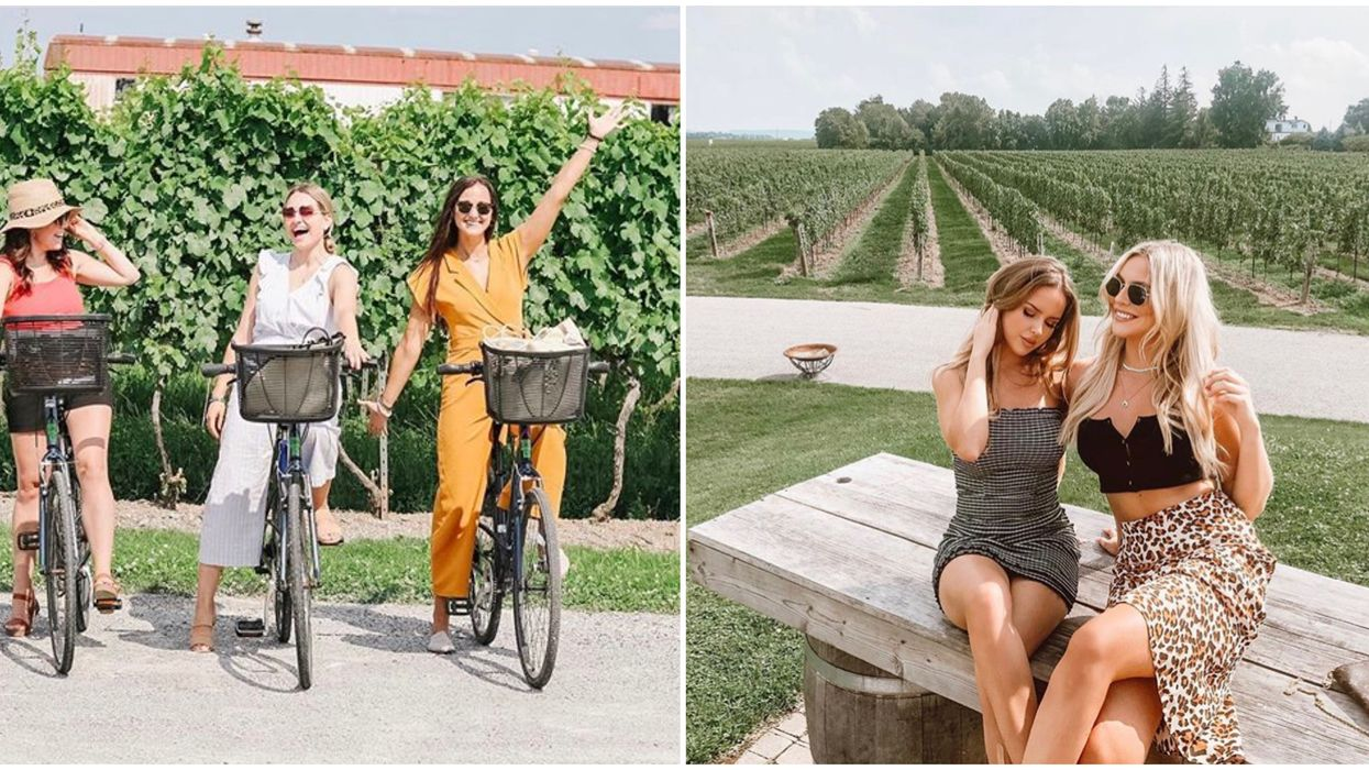 Niagara's Winery Bike Tours Let You Drink A Glass At Every Stop